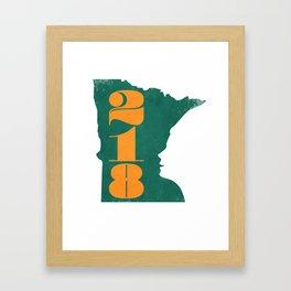 218: Minnesota Face Framed Art Print