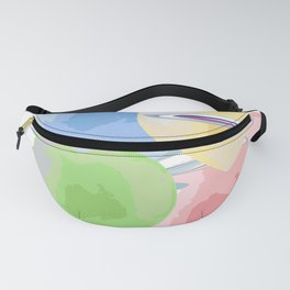 Rainbow hearts and swirls Fanny Pack