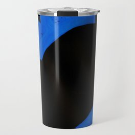 The Crown of Basquiat, Abstract, Electric Blue Travel Mug