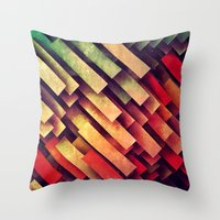 Throw Pillows featuring wype dwwn thys by Spires
