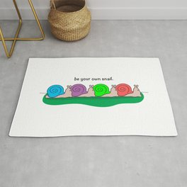 Be Your Own Snail Rug