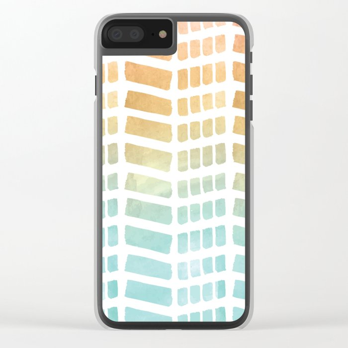 Gradient Boho Pattern Clear iPhone Case