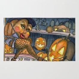 Pumpkin Stripper Rug