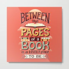 Between pages Metal Print