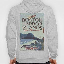 Boston Harbor Massachusetts Flight poster Hoody