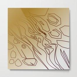 Design wild lines gold Metal Print