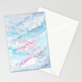 Pink and Blue Clouds . Sky Stationery Cards
