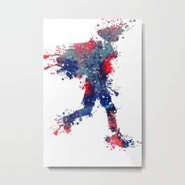 Red, White, and Blue Splash Metal Print