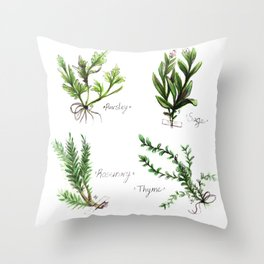 Herbs from the Faire Throw Pillow