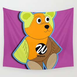Trendy Multicolored Teddy Bear  Wall Tapestry