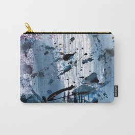 Breathe [6]: colorful abstract in black, blue, purple, gold and white Carry-All Pouch
