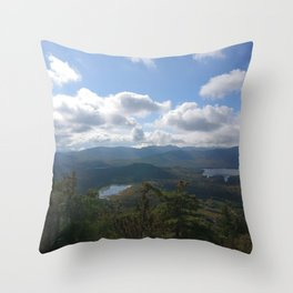 Silver Lake Mountain Throw Pillow