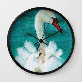 Swan mother Wall Clock