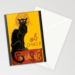 Le Chat D'Amour Black Cat Framed Vector Stationery Cards