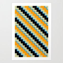 Pixel Orange Art Print