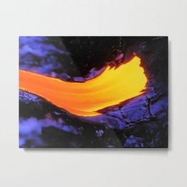 Golden Swirl Metal Print