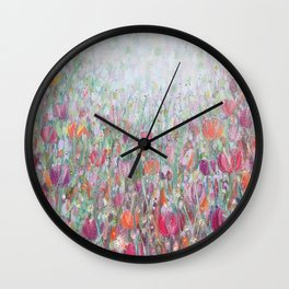 Tangled Tulips Wall Clock