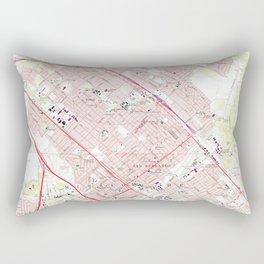 Vintage Map of San Fernando California (1966) Rectangular Pillow