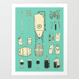 Brewer's Things Poster Art Print