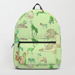 Watercolor Zoo Backpack