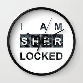 SHERLOCK I am Sherlocked Print Wall Clock