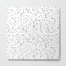 Speckles I: Black on White Metal Print