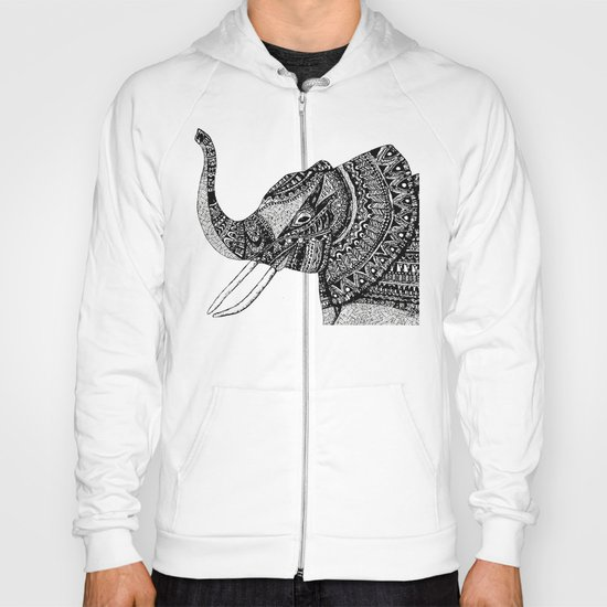 Allison Elephant Black and White Hoody