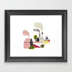 Small City Stories Framed Art Print