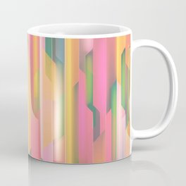 Pastels Splice Abstract Painting Coffee Mug