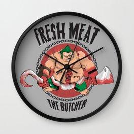 FRESH MEAT Wall Clock