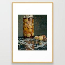 Claude Monet - Jar of Peaches, 1882 Framed Art Print