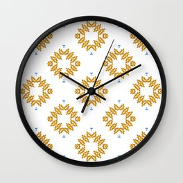 EMMETT - Pearl and Maude | Tangerine Orange, White and Sky Blue Dot Pattern Wall Clock