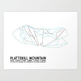 Plattekill, NY - Minimalist Trail Art Art Print