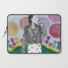 clown and lots of dots Laptop Sleeve