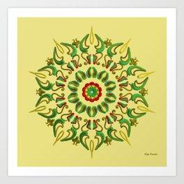 Mandala Reggae Art Print
