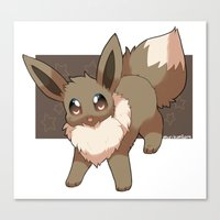eevee Canvas Prints featuring Eevee by Mirikun