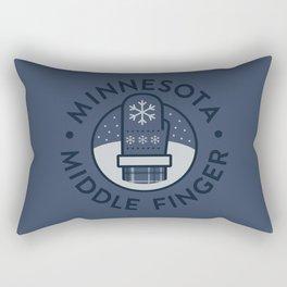 Minnesota Middle Finger Rectangular Pillow