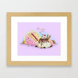 Cake and Ice Cream Framed Art Print
