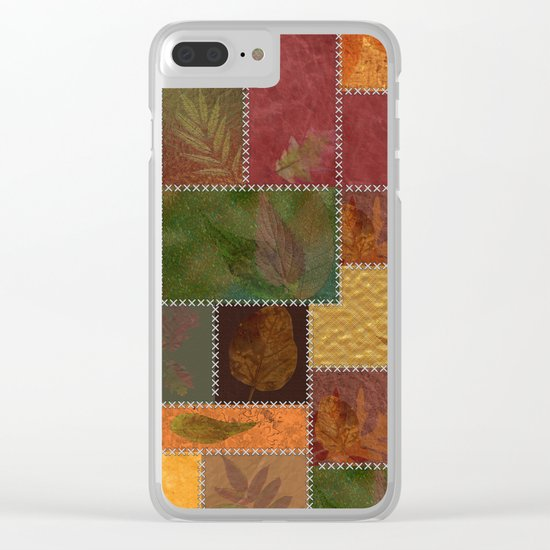 Stitches Of Autumn Clear iPhone Case