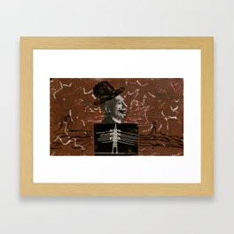 Electrical Hat Man Framed Art Print