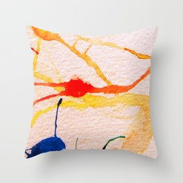 The Spider and the Web Throw Pillow