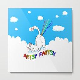 Artsy-Fartsy Cat Metal Print