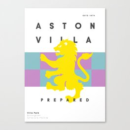 Aston Villa 15/16 Canvas Print