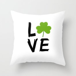 Love St Patricks Day Throw Pillow