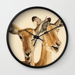 Impalas Watercolor Wall Clock