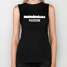 Madison Wisconsin Skyline Cityscape Biker Tank