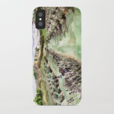 Purple up over the hills iPhone X Slim Case