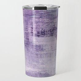 Dreamscape in purple:  an organic, modern, abstract art print design Travel Mug