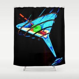 Martini Glass Las Vegas Shower Curtain