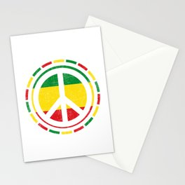 Distressed Rasta Peace design Gift for Reggae Lovers product Stationery Cards